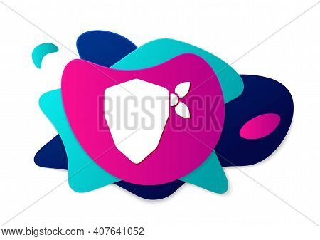 Color Vandal Icon Isolated On White Background. Abstract Banner With Liquid Shapes. Vector