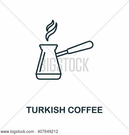 Turkish Coffee Icon. Simple Element From Drinks Collection. Creative Turkish Coffee Icon For Web Des