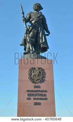 Irkutsk,RU-Sept,20 2012:The monument to the founders of Irkutsk in Sept,20 2012 in Irkutsk, Russia