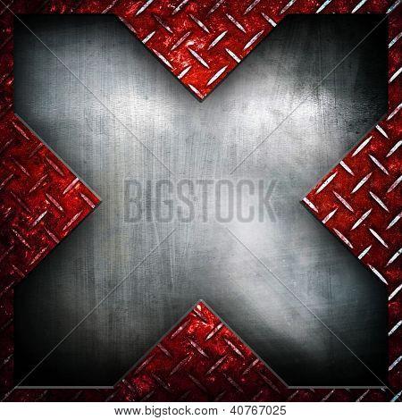 X pattern metal background