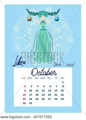 Zodiac Calendar 2022.Horoscope Vertical Vector Photo Free Trial Bigstock