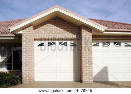 Suburban Town House Garage Door