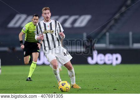 Torino, Italy. 09th Fabruary 2021 . Dejan Kulusevski Of Juventus Fc  During The Coppa Italia Semi-fi