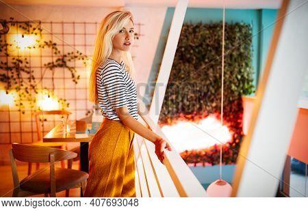 Portrait Of A Beautiful Sensual Blonde Woman