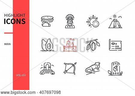 Maya - Modern Line Design Style Icons Set