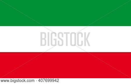 Official Large Flat Flag Of North Rhine-westphalia Horizontal