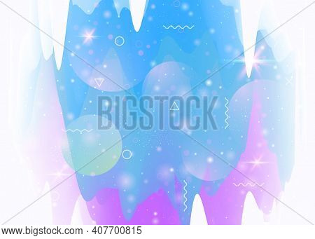 Universe Landscape With Holographic Cosmos And Abstract Future Background. Futuristic Gradient And S