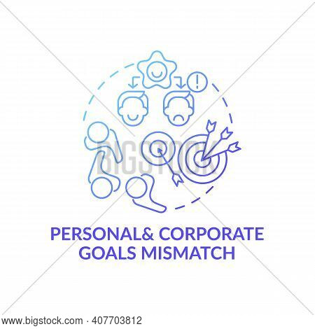 Personal And Corporate Conditions Concept Icon. New Worker Emotional Burden Factors Idea Thin Line I