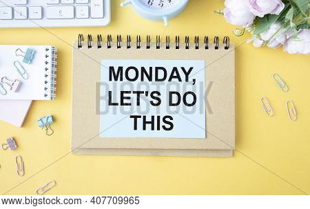 Monday, Let's Do This - Handwriting On A Napkin.