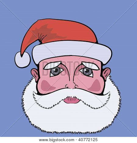 Colorful  Picture With Santa Claus