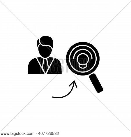 Identifying Potential Glyph Icon. Personal Growth Concept. Self Improvement And Talent Acquisition.p