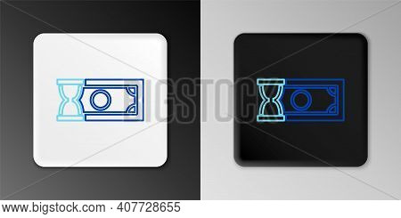 Line Fast Payments Icon Isolated On Grey Background. Fast Money Transfer Payment. Financial Services