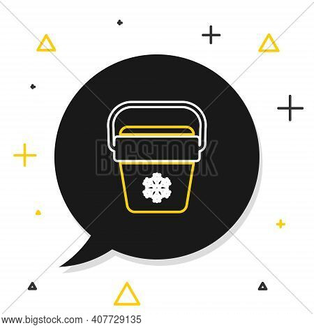 Line Cooler Bag Icon Isolated On White Background. Portable Freezer Bag. Handheld Refrigerator. Colo