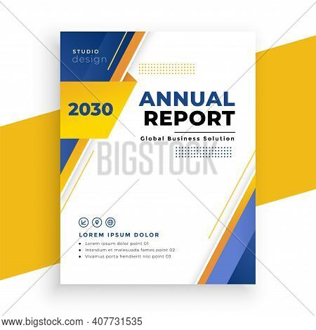 Modern Annual Report Business Brochure Template Design
