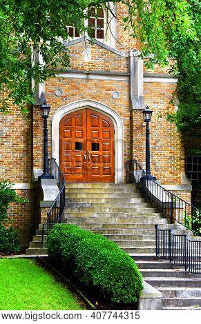 Entrance To Saint John Orthodox Church Memphis