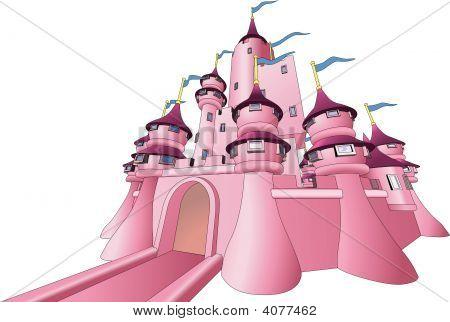 Иллюстрация сказочного замка