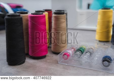 Sample Of Cone Yarn, Cotton, Linen Yarn, Colored Yarn, Textiles