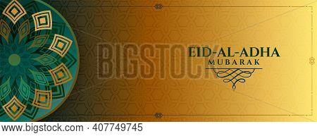 Islamic Style Decorative Eid Al Adha Bakrid Festival Banner
