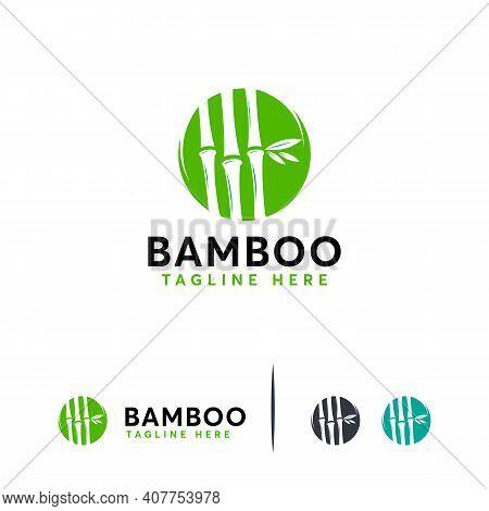 Bamboo Designs Concept Vector, Simple Bamboo Nature Logo Symbol