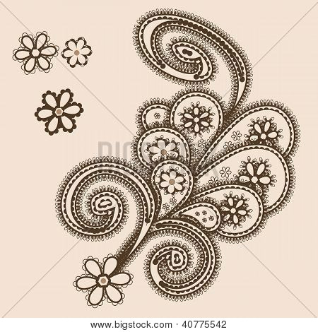 Abstract Ornament With Paisleys