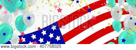 Presidents day sale, party banner with Balloons background. Happy President\\\'s Day Sale banner
