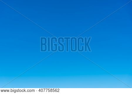 Blue Sky Background With Beautiful Natural Without Clouds