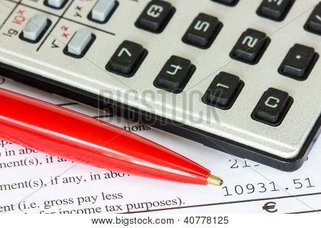 Tax Or Taxes Concept