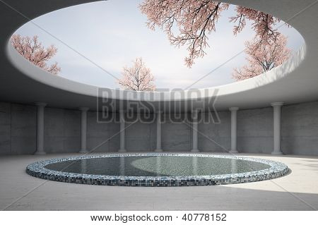 Architectual Concept With Spring