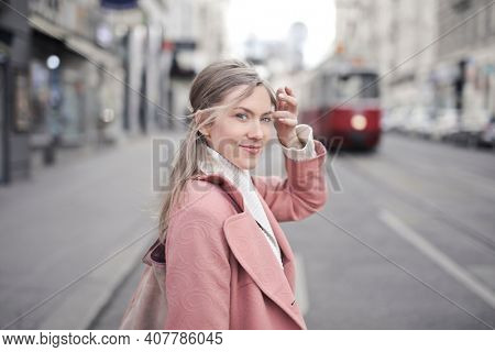 young woman in the street
