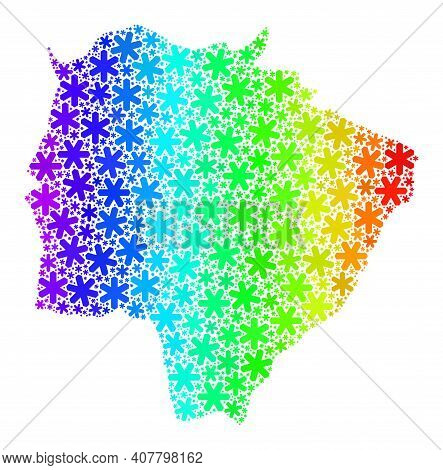 Bright Gradient Composition Of Mato Grosso Do Sul State Map Constructed For New Year Ads. Mato Gross