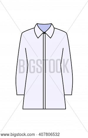 Business Blouse Icon. Editable Outline With Color Fill Design. Vector Illustration.