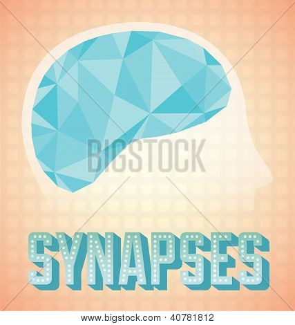 Abstract Brain Synapses Graphic
