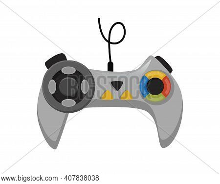 Joystick. Cartoon Video Game Console. Entertainment Play Technology. Gamepad Vector Icon. Game-play