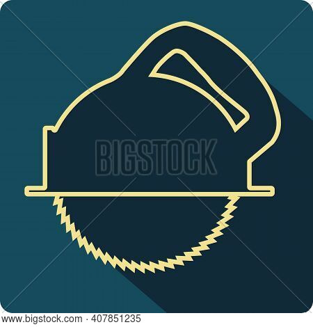Electric Circular Repair Tool Icon Button Illustration Isolated