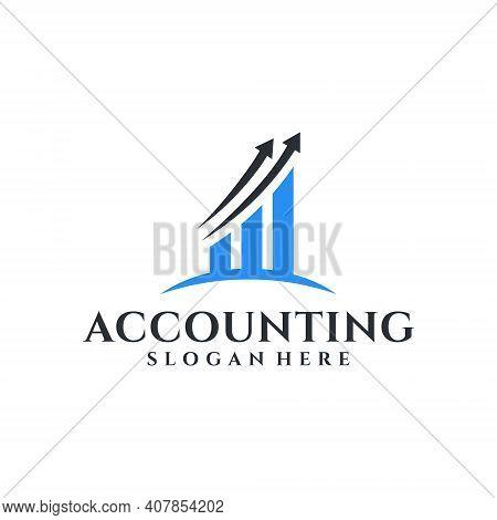 Accounting Modern Elegant Logo Design Inspiration Template. Logo Good For Accountant, Icon, Brand, I
