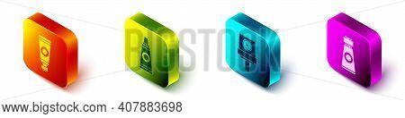 Set Isometric Tube With Paint Palette, Tube With Paint Palette, Spray Can Nozzle Cap And Tube With P
