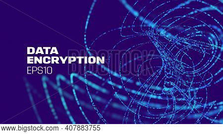 Data Encryption Technology Background. Data Protection. Digital Technology. Abstract Vector Backgrou
