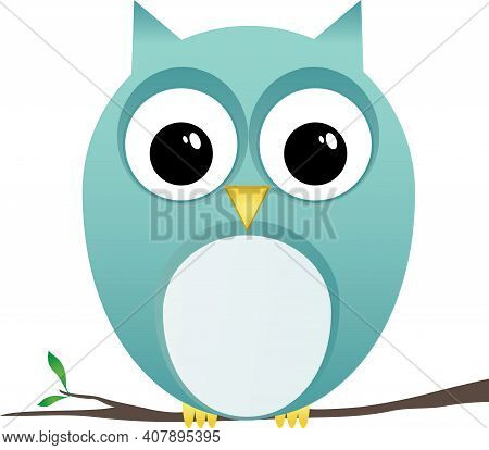 Owl Clip Art Perching On Branch Spring Design