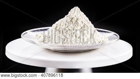 Calcium Chloride Being Prepared In The Laboratory. Used As In Brine For Refrigeration Machines, Ice