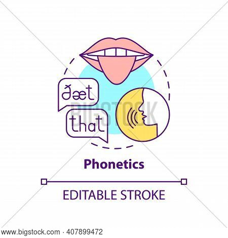 Phonetics Concept Icon. Language Learning Category Idea Thin Line Illustration. Physical Speech Prop