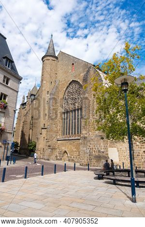 Saint-brieuc, France - August 24, 2019: Saint-brieuc Cathedralis A Roman Catholic Church In The Town