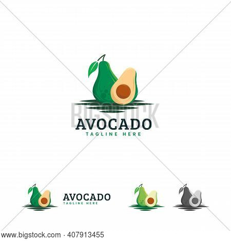Avocado Logo Designs Emblem, Fresh Avocado Fruits Symbol