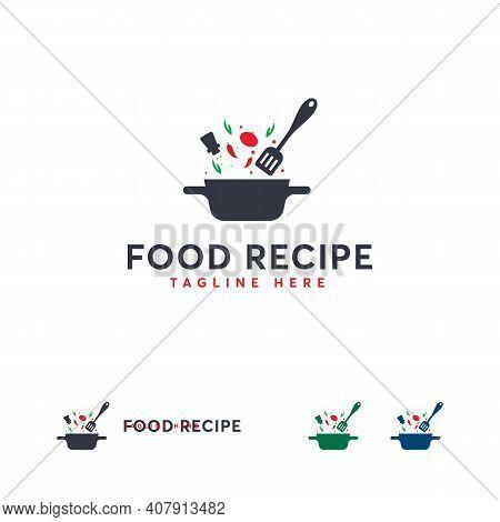 Food Recipe Logo Designs Concept Vector, Cooking Logo Designs Template