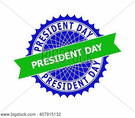 Vector President Day Bicolor Template For Watermarks With Clean Surface. Flat Clean Seal Template Wi