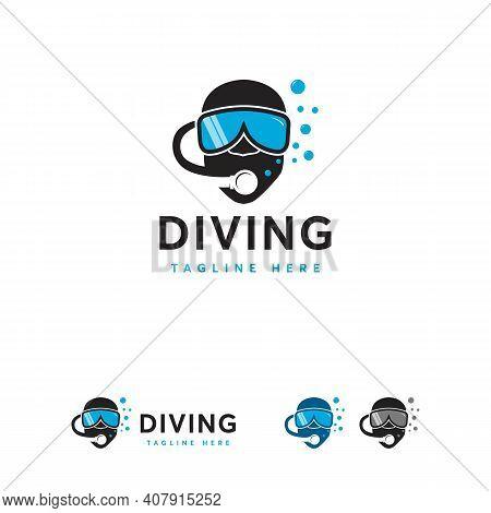 Diving Logo Designs Concept Vector, Diving Helm Logo Symbol