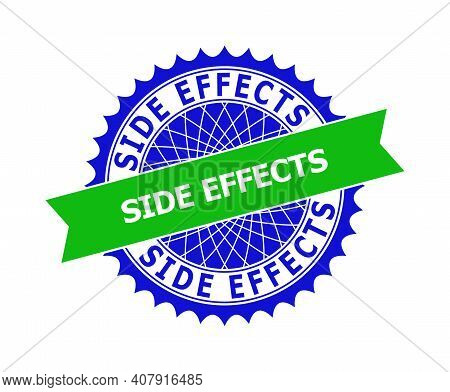 Vector Side Effects Bicolor Template For Imprints With Clean Surface. Flat Simple Seal Template With
