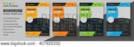Construction Flyer Template Design, Corporate Flyer