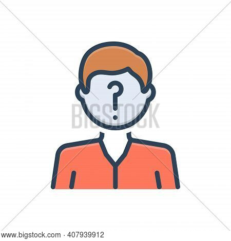 Color Illustration Icon For Suspected Suspicious Doubtful Questionable Anonymous
