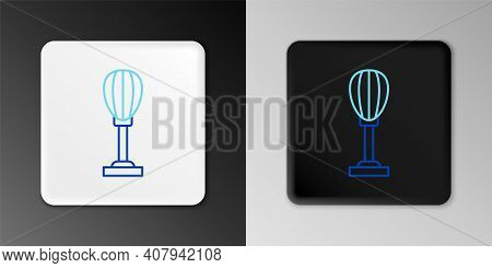 Line Punching Bag Icon Isolated On Grey Background. Colorful Outline Concept. Vector