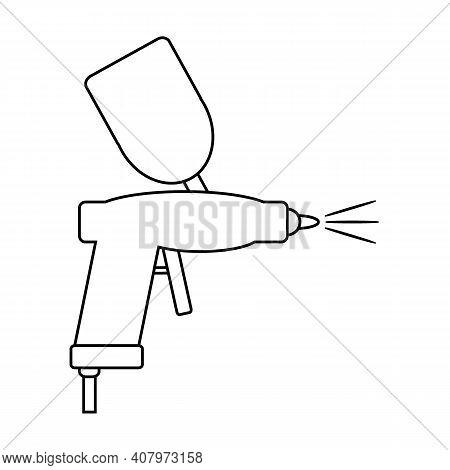 Spray Gun Icon On White Background. Vector Illustration.